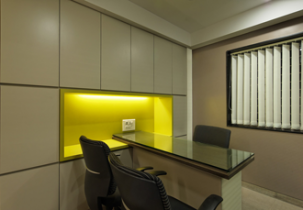Interior design by Lovekar Design Associates for Shraddha Developers
